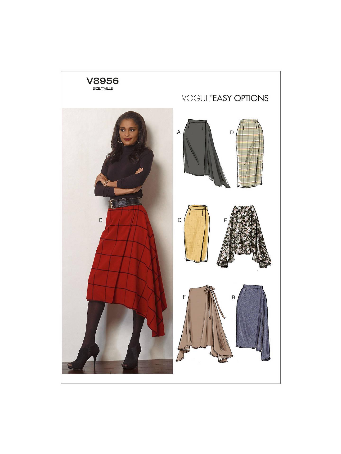 Vogue Women\'s Skirts Sewing Pattern, 8956 at John Lewis & Partners