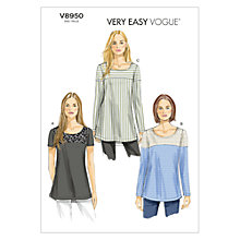 Buy Vogue Women's Tunic Sewing Pattern, 8950 Online at johnlewis.com