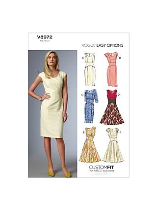 Vogue Women's Dresses Sewing Pattern, 8972