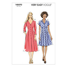 Buy Vogue Women's Dresses Sewing Pattern, 8970 Online at johnlewis.com