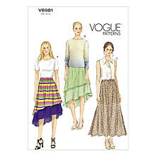 Buy Vogue Women's Skirts Sewing Pattern, 8981 Online at johnlewis.com