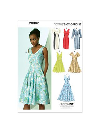 Vogue Women's Dresses Sewing Pattern, 8997
