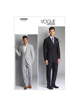 Men | Vogue | Sewing Patterns | John Lewis & Partners