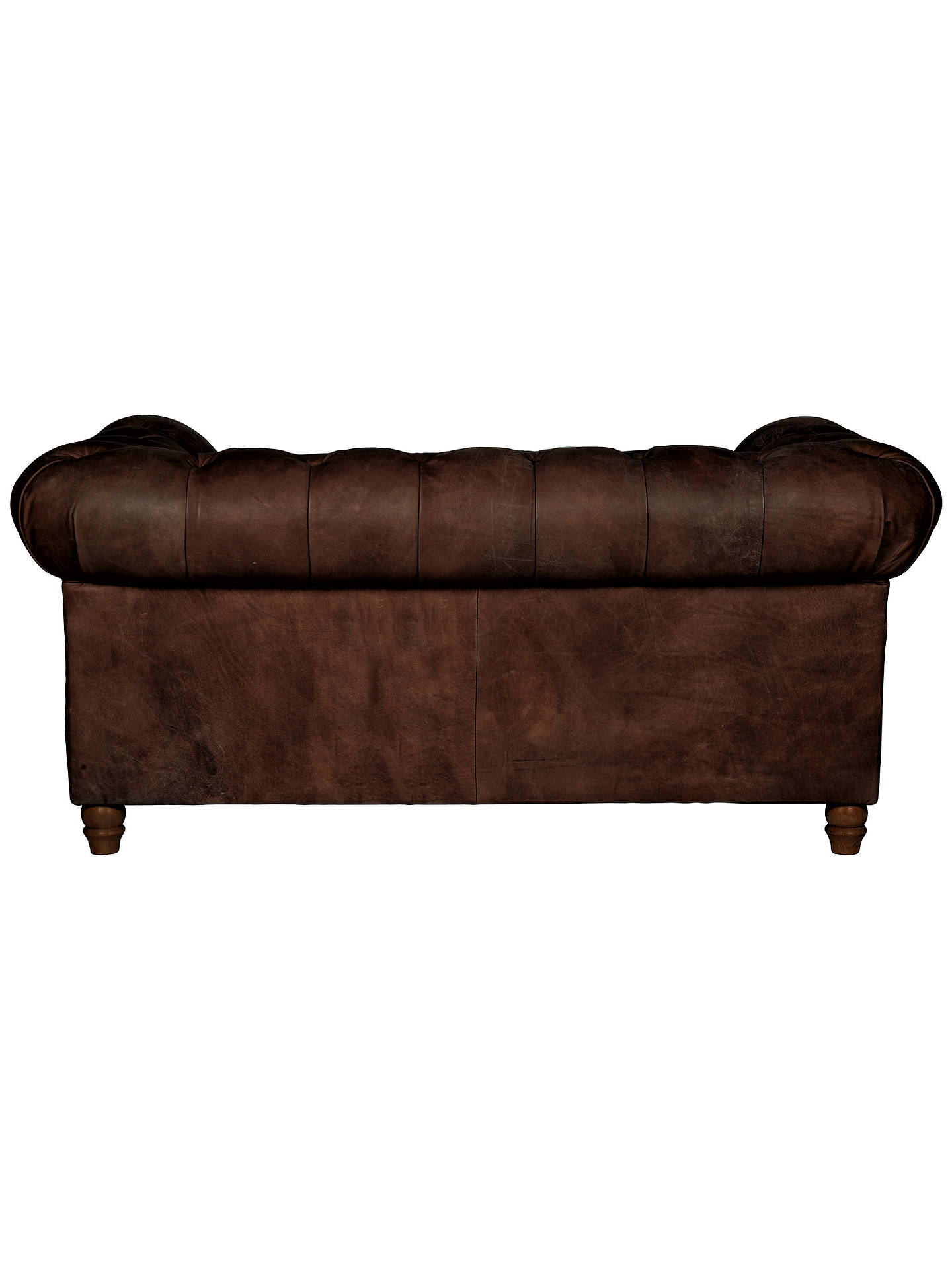 Buy Halo Earle Chesterfield Medium 2 Seater Leather Sofa, Riders Cocoa Online at johnlewis.com
