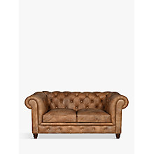 Buy Halo Earle Medium Chesterfield Leather Sofa Online at johnlewis.com