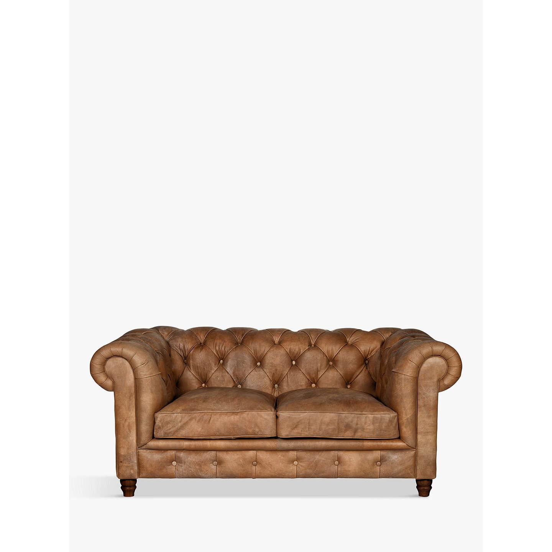 Italian Leather Sofa By Cake: Halo Earle Medium Chesterfield Leather Sofa At John Lewis