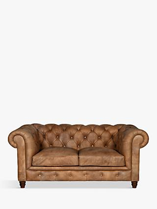 Halo Earle Chesterfield Medium 2 Seater Leather Sofa