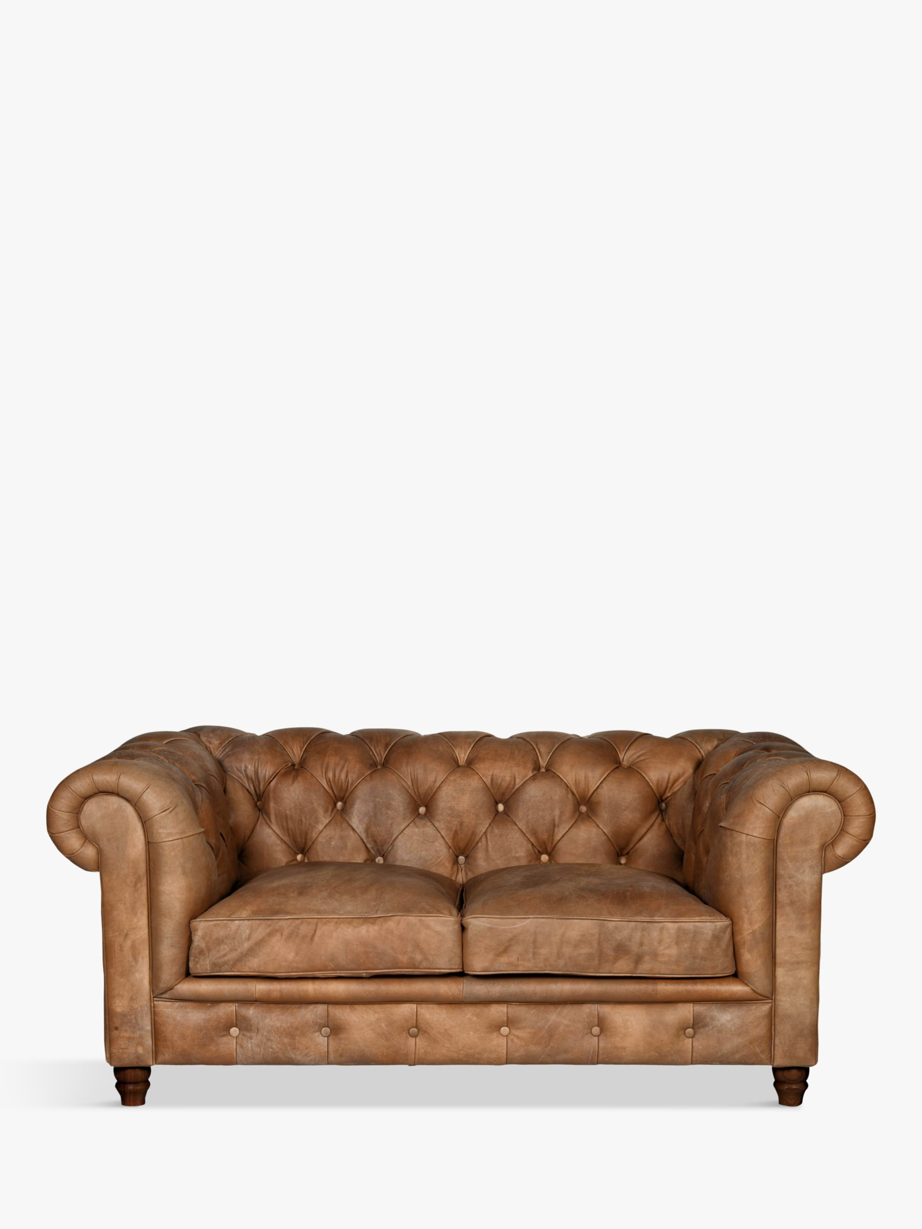 Halo Halo Earle Chesterfield Medium 2 Seater Leather Sofa