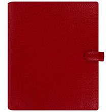 Buy Filofax Finsbury Personal Organiser A5, Cherry Online at johnlewis.com