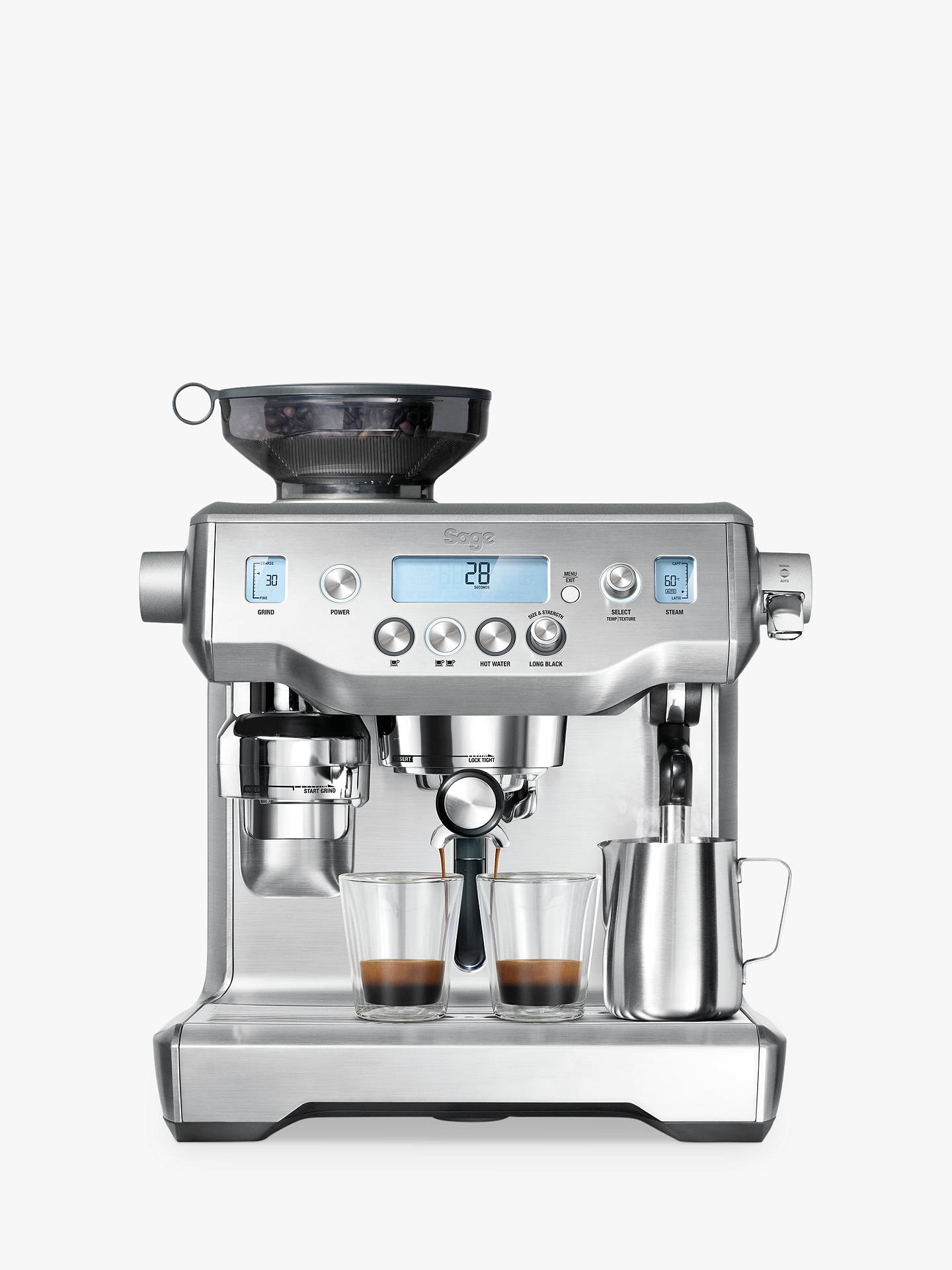 Buy Sage The Oracle™ Bean-to-Cup Coffee Machine, Silver Online at johnlewis.com