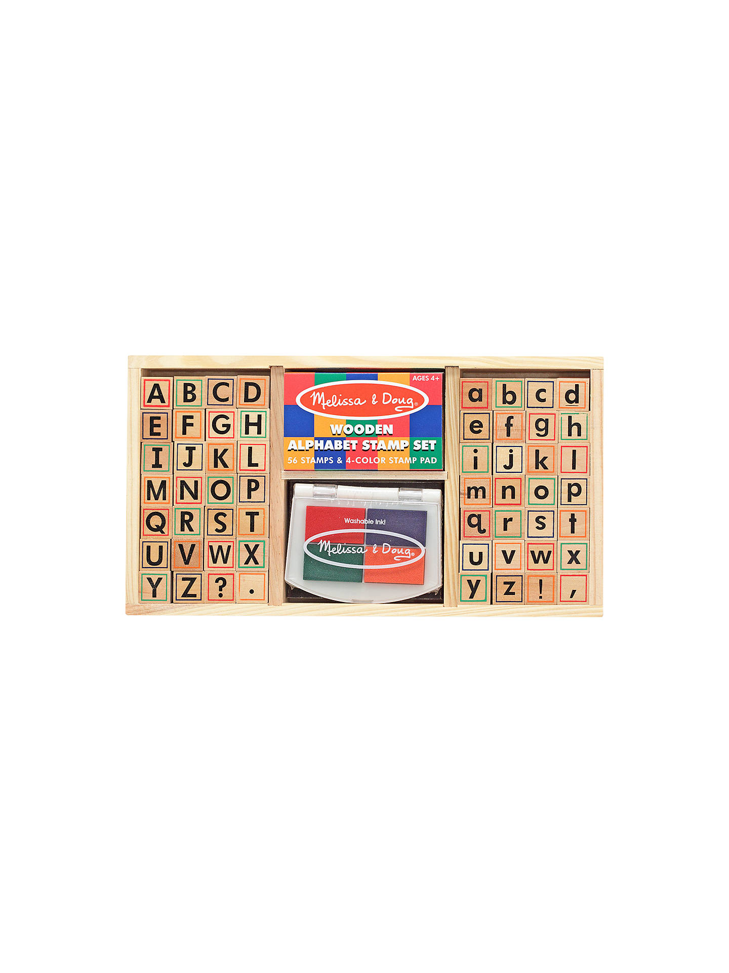 BuyMelissa Doug Alphabet Stamp Set Online At Johnlewis