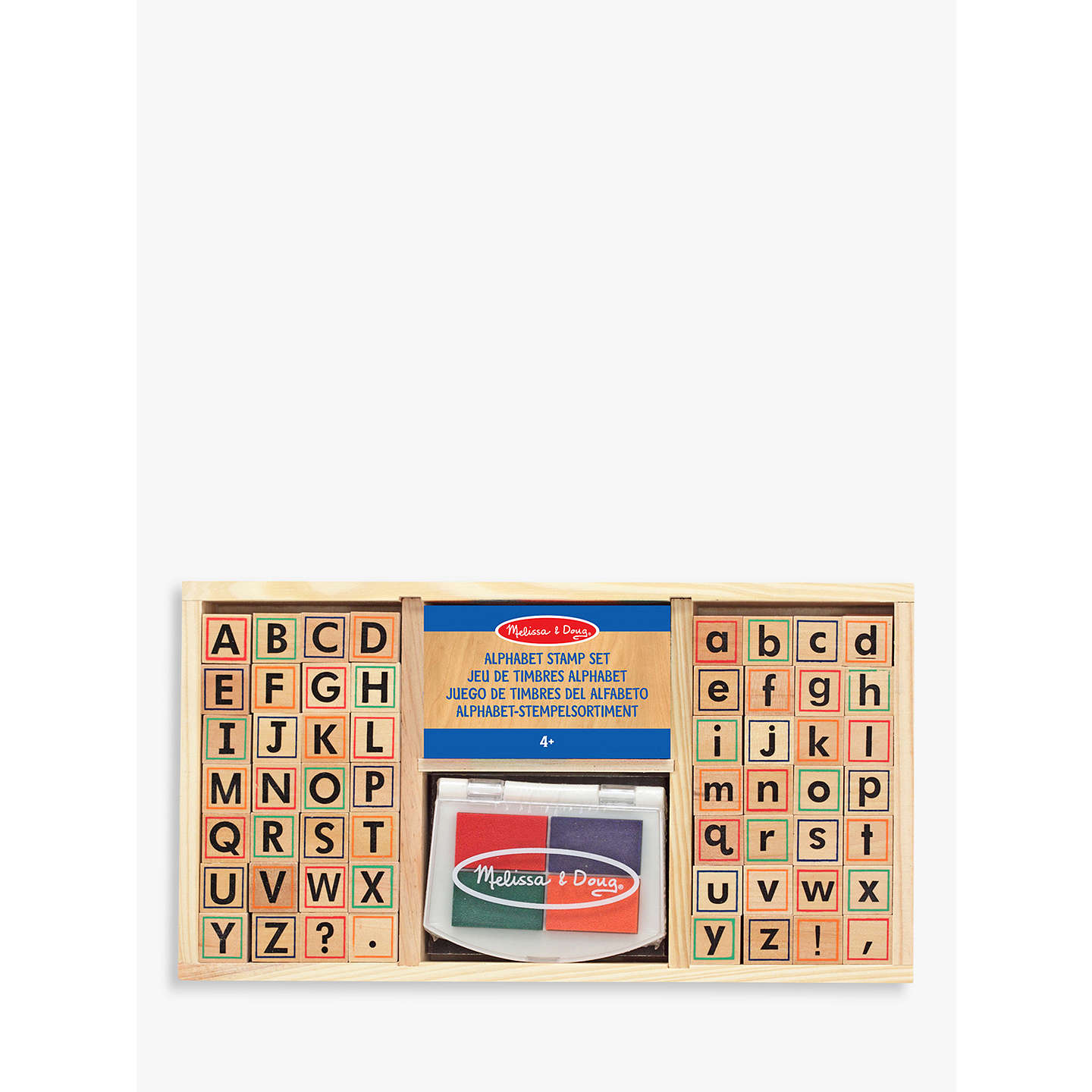 BuyMelissa & Doug Alphabet Stamp Set Online at johnlewis.com