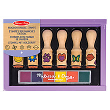 Buy Melissa & Doug Wooden Handle Stamps Set Online at johnlewis.com