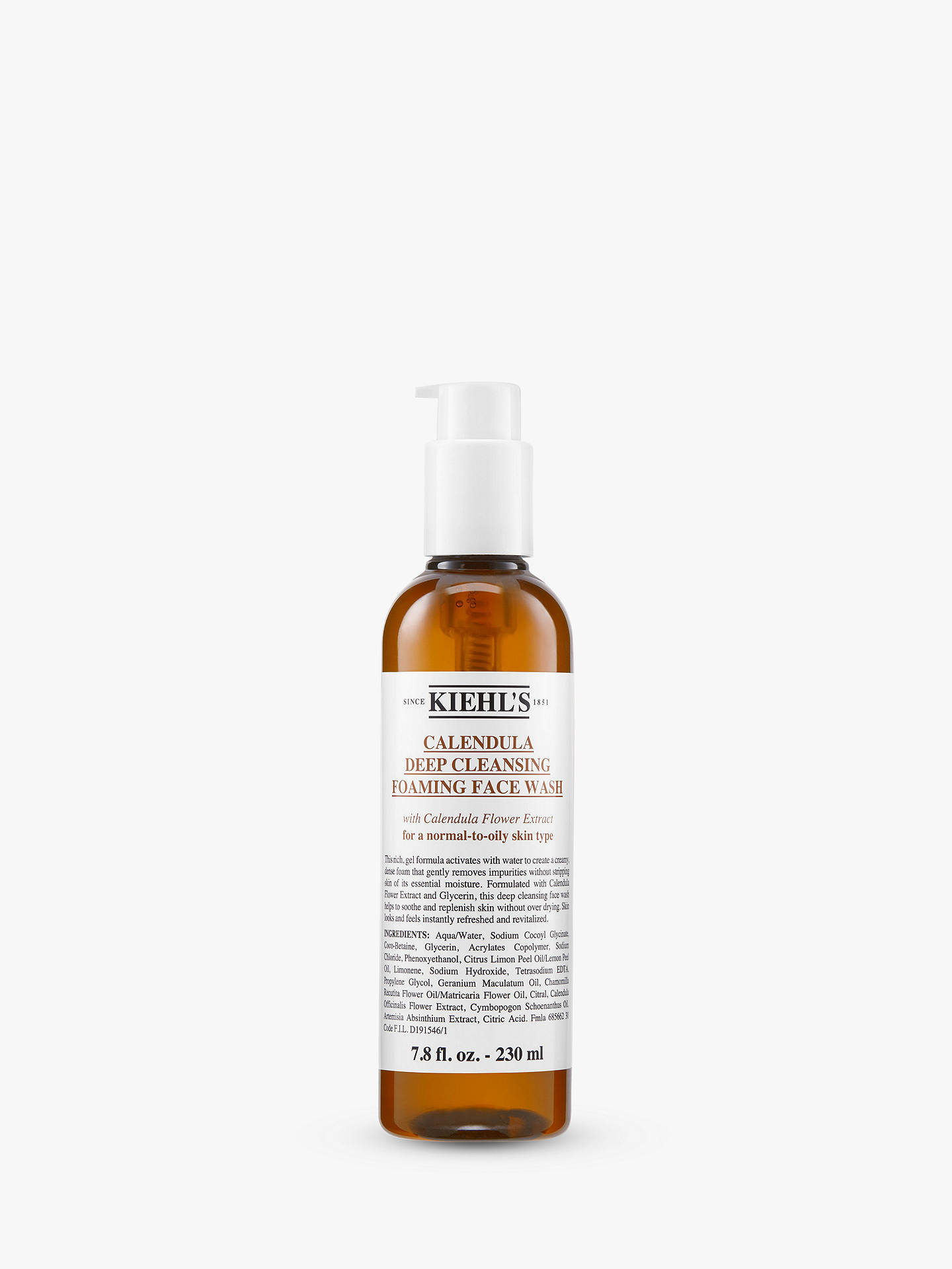 BuyKiehl's Calendula Foam Cleanser, 230ml Online at johnlewis.com