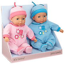 Buy John Lewis Baby Doll Twins Online at johnlewis.com