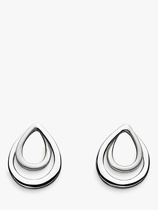 Kit Heath Sterling Silver Infinity Satin Stud Earrings