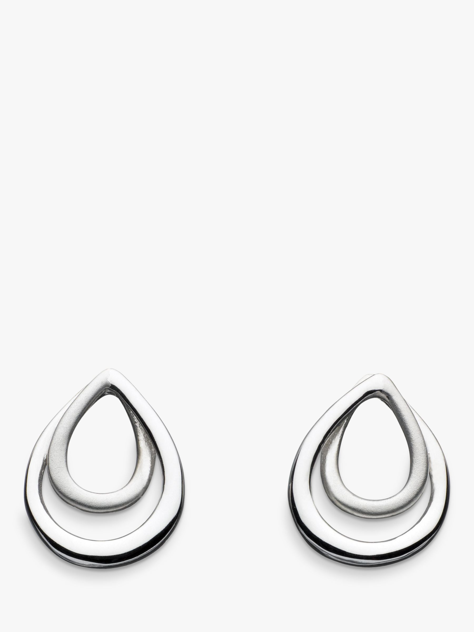 Kit Heath Kit Heath Sterling Silver Infinity Satin Stud Earrings