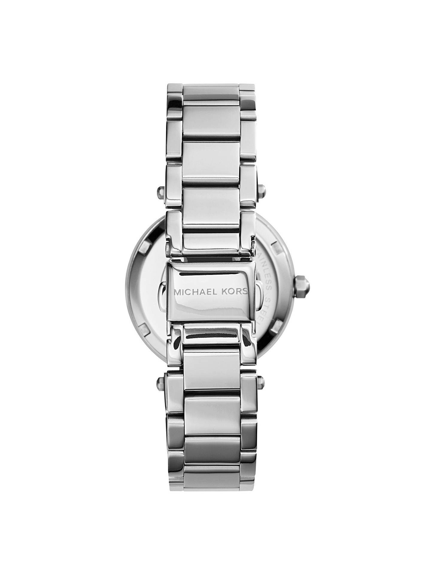 BuyMichael Kors MK5615 Mini Chronograph Bracelet Strap Watch, Silver Online at johnlewis.com