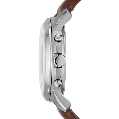 Buy Fossil Men's Grant Chronograph Leather Strap Watch Online at johnlewis.com
