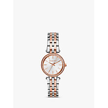 Buy Michael Kors MK3298 Women's Mini Two Tone Stainless Steel Darci Glitz Watch, Silver / Rose Gold Online at johnlewis.com