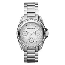 Buy Michael Kors MK5612 Women's Chronograph Stainless Steel Bracelet Strap Watch, Silver Online at johnlewis.com