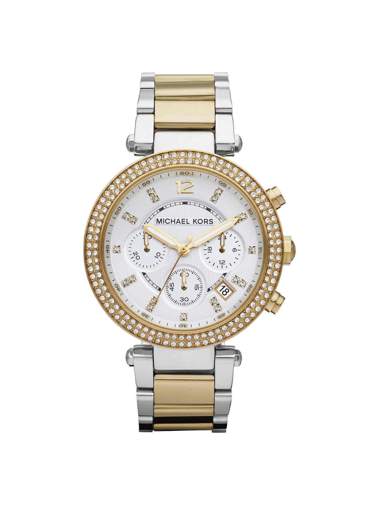 4099df7b9dc7 Buy Michael Kors MK5626 Women s Parker Chronograph Two Tone Bracelet Strap  Watch