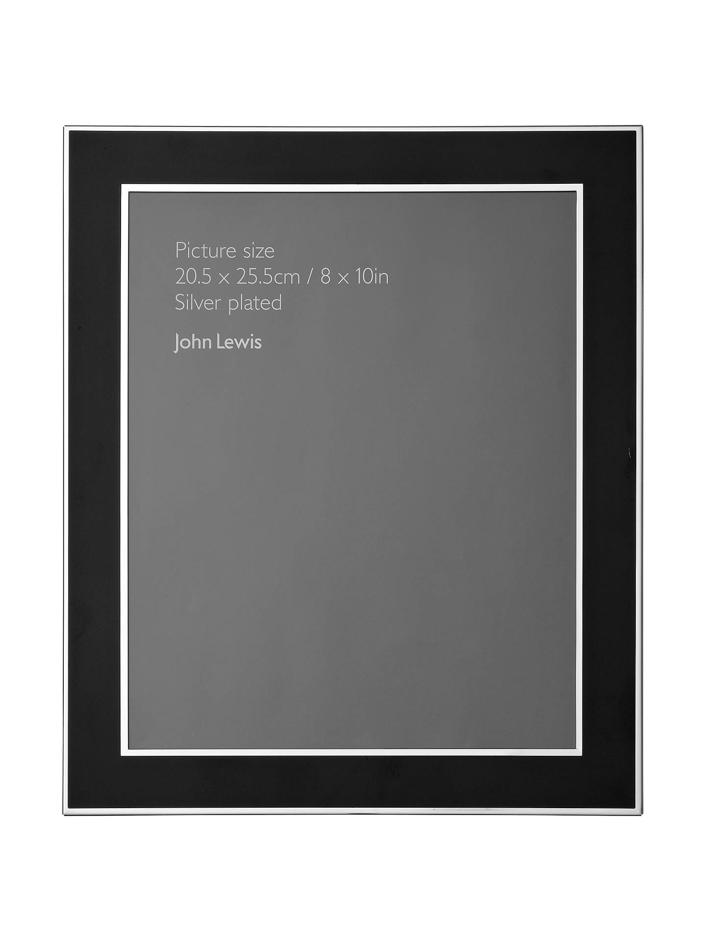 John Lewis Partners Dart Silver Plated Photo Frame 8 X 10 20 X