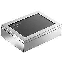 "Buy John Lewis Silver Plated Photo Frame Box, 4 x 6"" (10 x 15cm) Online at johnlewis.com"