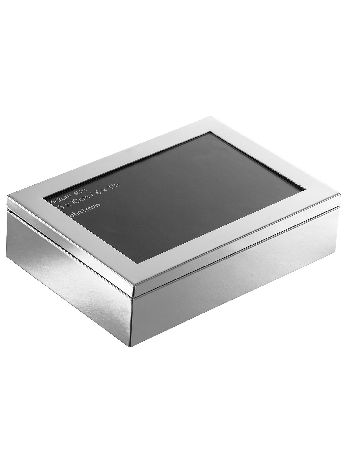 "Buy John Lewis & Partners Plane Photo Frame Box, 4 x 6"" (10 x 15cm), Silver Plated Online at johnlewis.com"