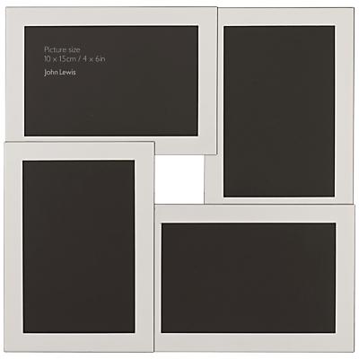 John Lewis Silver Plated Multi-Aperture Frame, 4 Photo