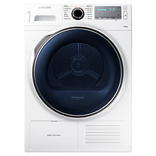 Buy Samsung DV80H8100HW Heat Pump Condenser Tumble Dryer, 8kg Load, A++ Energy Rating, White Online at johnlewis.com