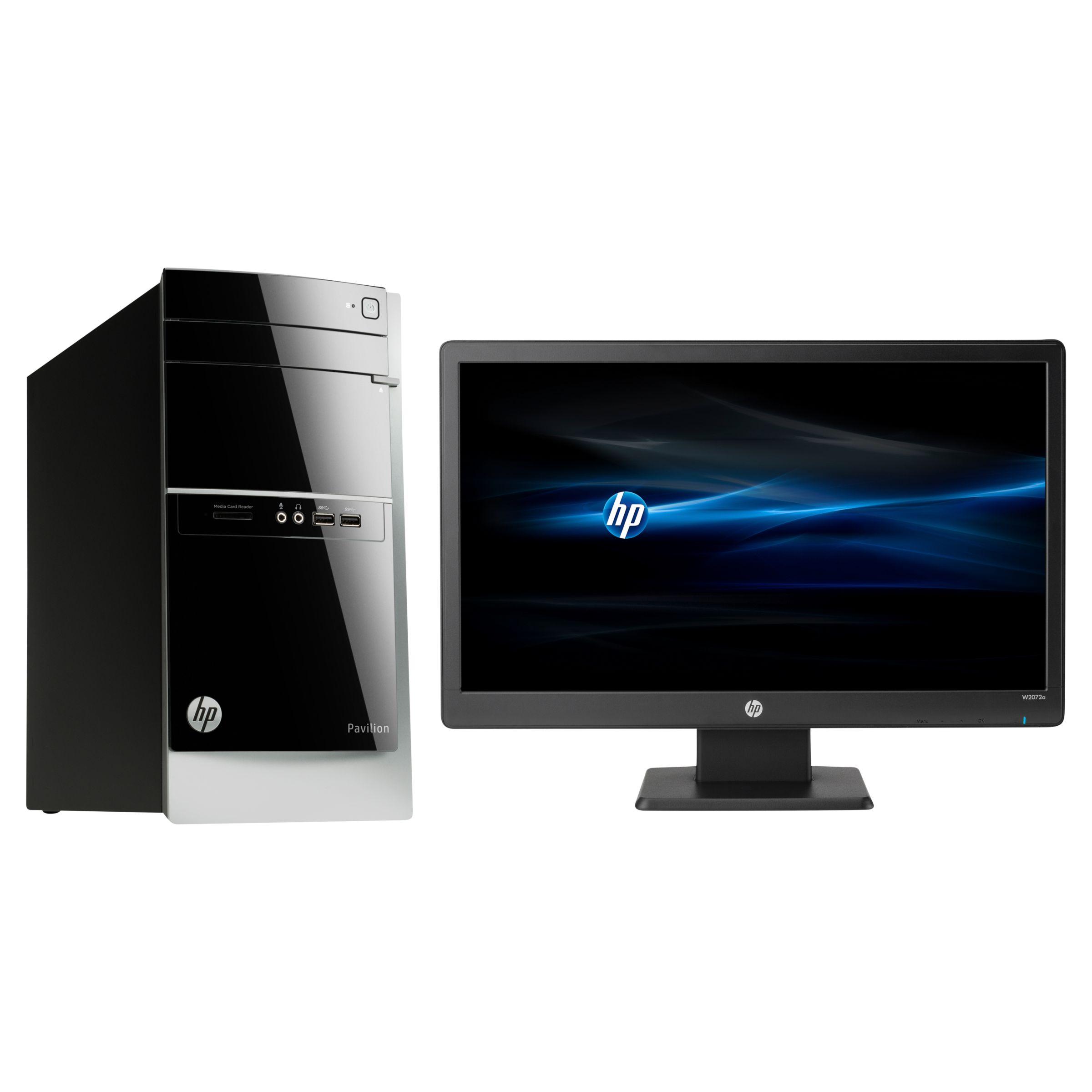 HP Pavilion 500-386nam Desktop PC and W2072a 20