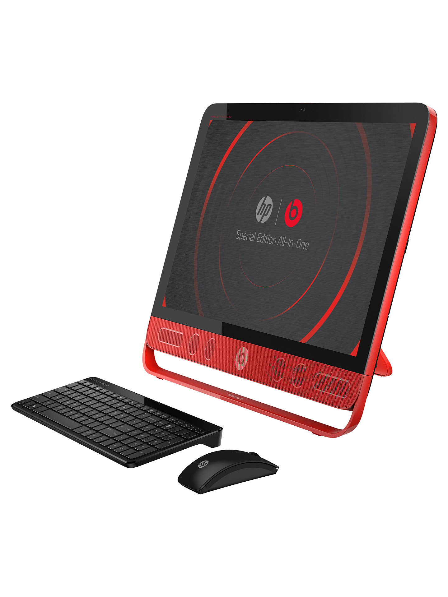 "Buy HP Envy Beats Edition 23-n001na All-in-One Desktop PC, Intel Core i7, 8GB RAM, 1TB, 23"" Touch Screen, Black Online at johnlewis.com"