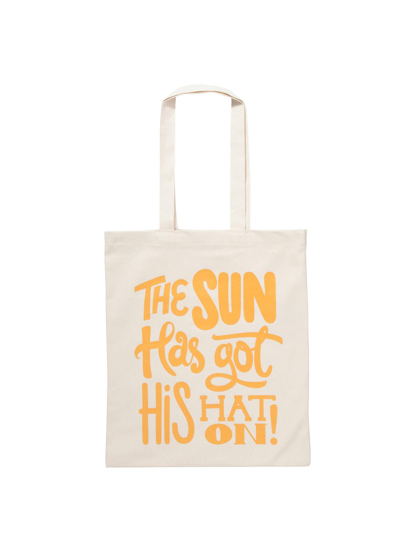 77ad8de42 Buy Alphabet Bags Canvas Shopper Bag, The Sun Online at johnlewis.com ...
