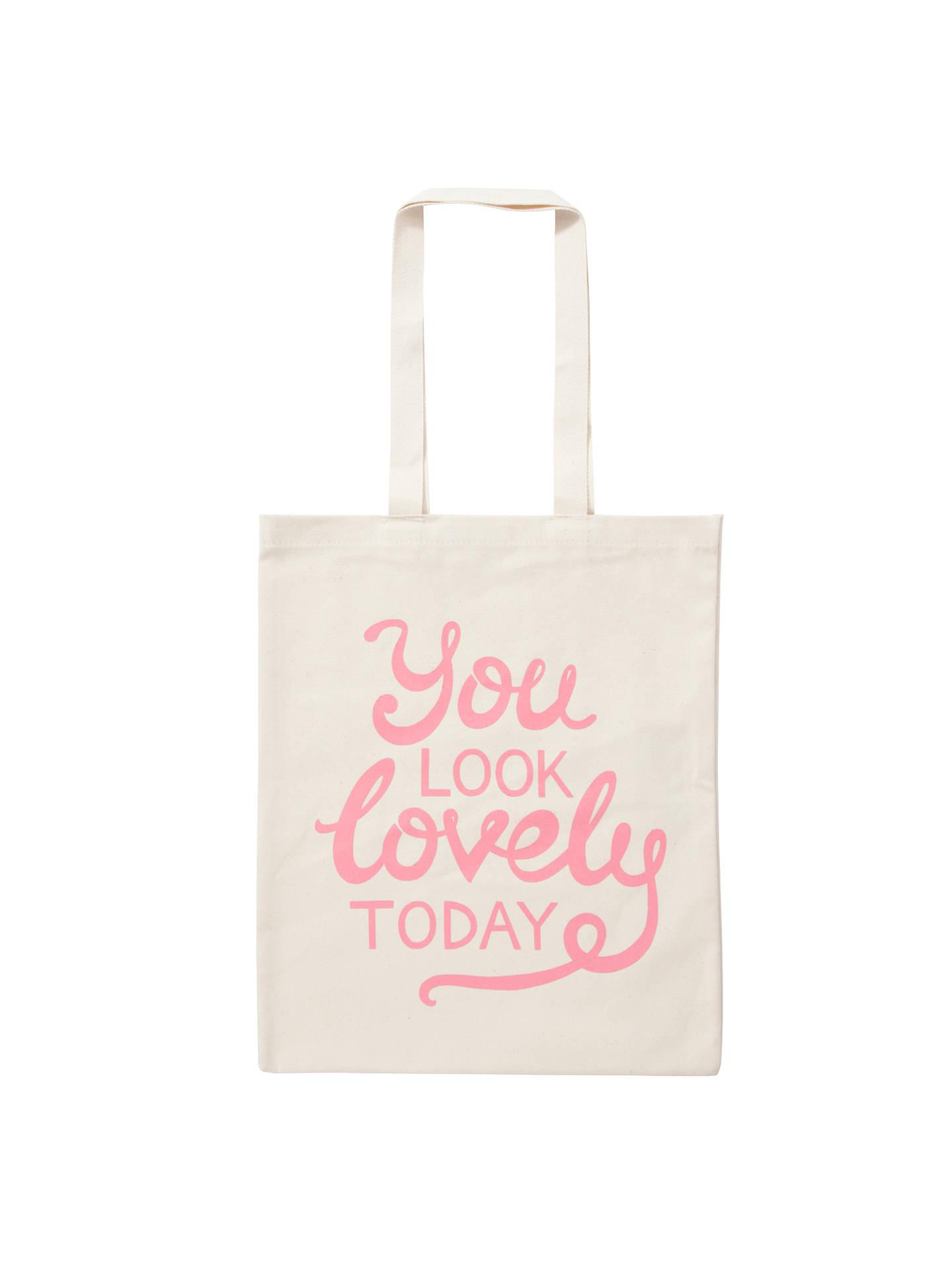 edb7c34d5 BuyAlphabet Bags Canvas Shopper Bag, You Look Lovely Online at  johnlewis.com ...