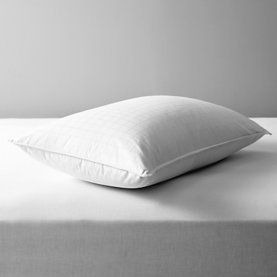 John Lewis Supreme White Goose Down Standard Pillow, Soft/Medium