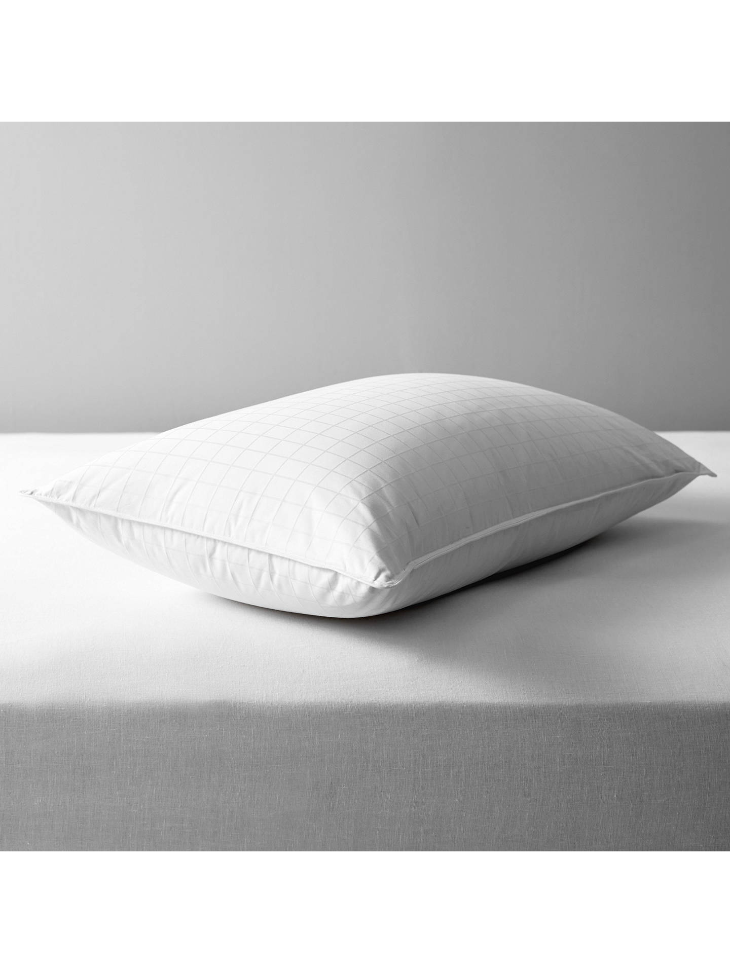 BuyJohn Lewis & Partners Natural White Goose Down Standard Pillow, Soft/Medium Online at johnlewis.com