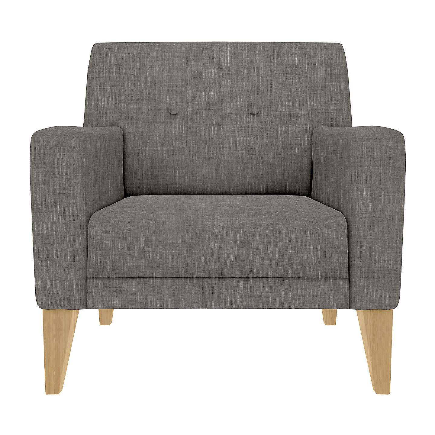 BuyHouse By John Lewis Louis Armchair, Light Leg, Fraser Steel Online At  Johnlewis.