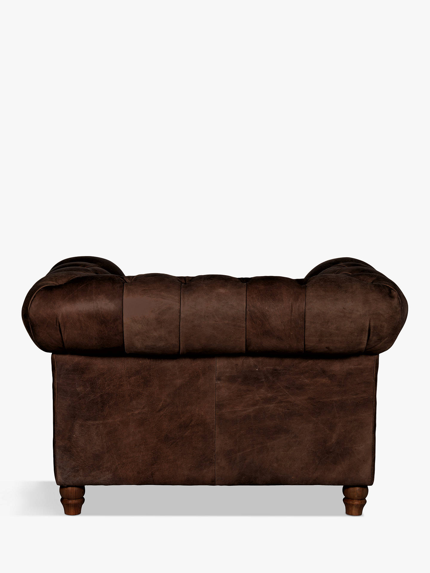 Buy Halo Earle Chesterfield Leather Armchair, Riders Cocoa Online at johnlewis.com