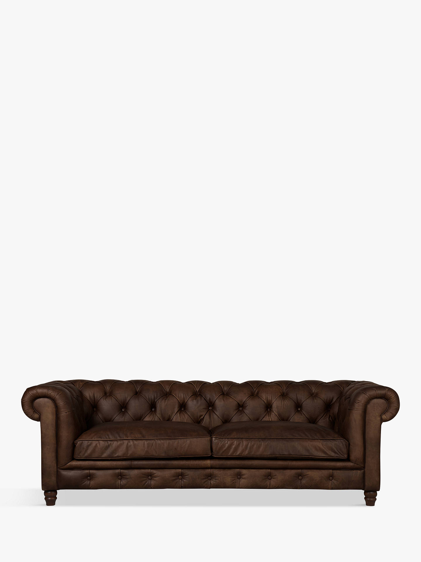 Fabulous Halo Earle Chesterfield Grand 4 Seater Leather Sofa Riders Cocoa Uwap Interior Chair Design Uwaporg