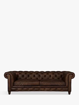 Halo Earle Chesterfield Grand 4 Seater Leather Sofa