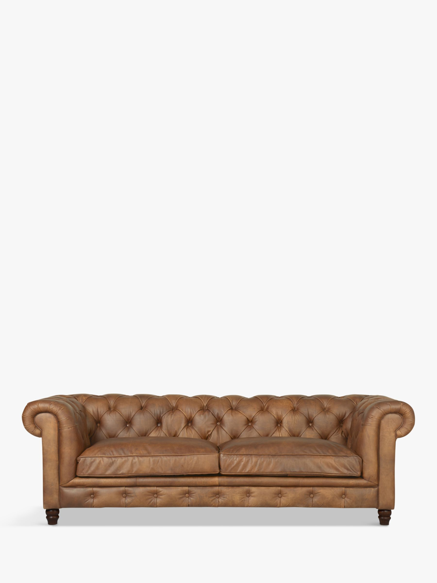 Halo Halo Earle Chesterfield Grand 4 Seater Leather Sofa