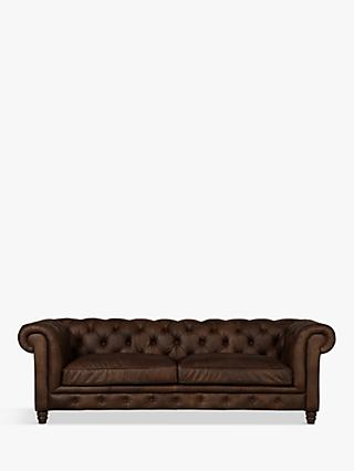 Halo Earle Chesterfield Large 3 Seater Leather Sofa