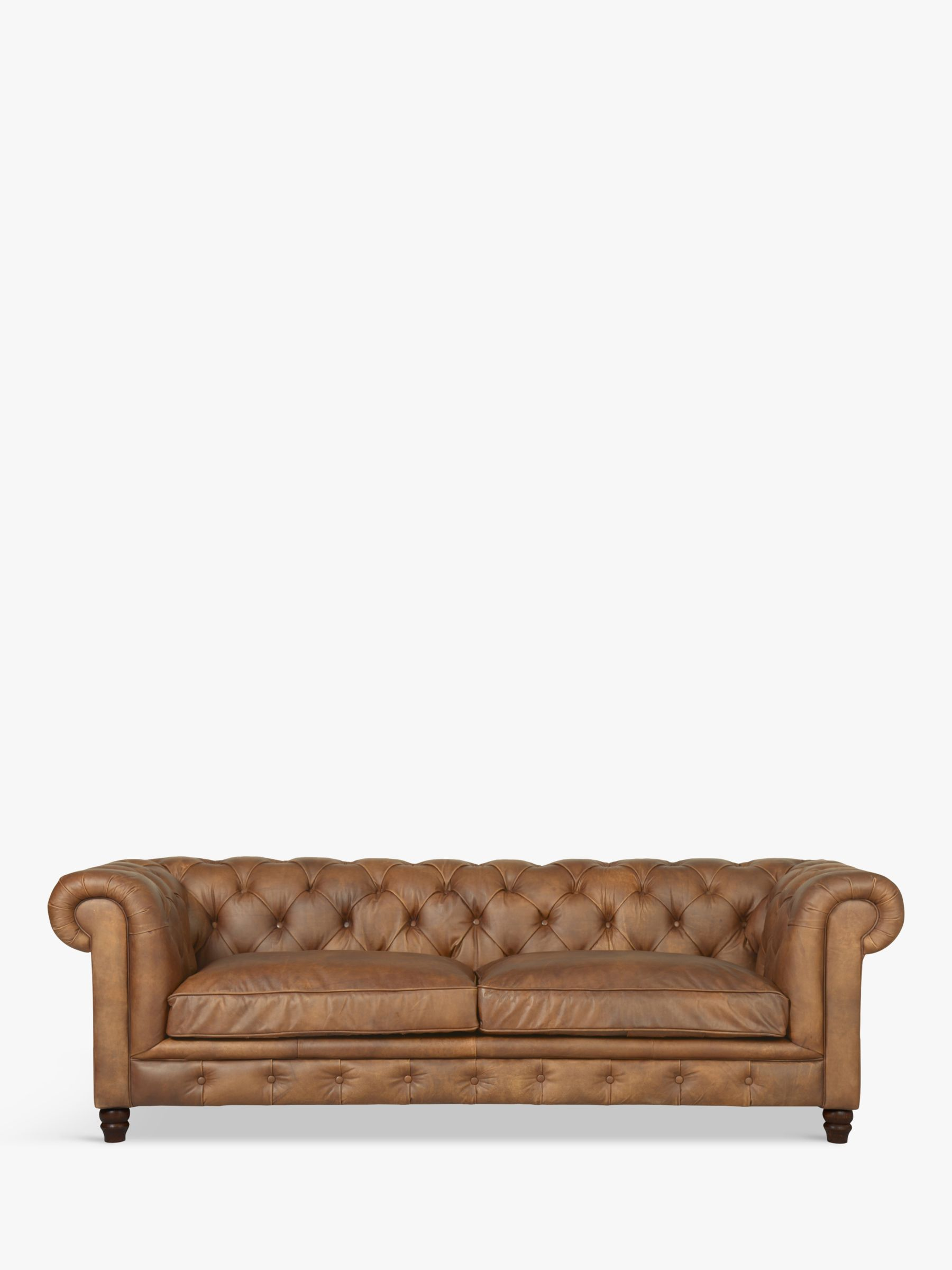 Halo Halo Earle Chesterfield Large 3 Seater Leather Sofa