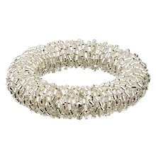 Buy John Lewis Sparkle Napkin Rings, Set of 4, Silver Online at johnlewis.com