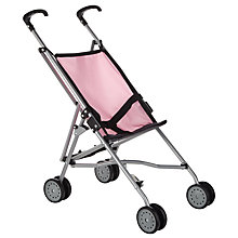 Buy John Lewis Baby Doll Pushchair, Grey/Pink Online at johnlewis.com
