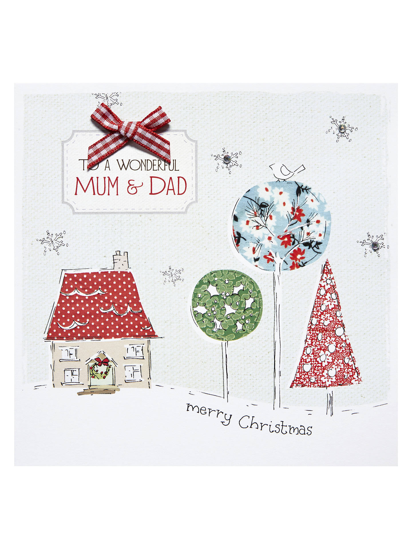 Saffron Gift and Cards Mum Dad Love Christmas Card at John Lewis ...