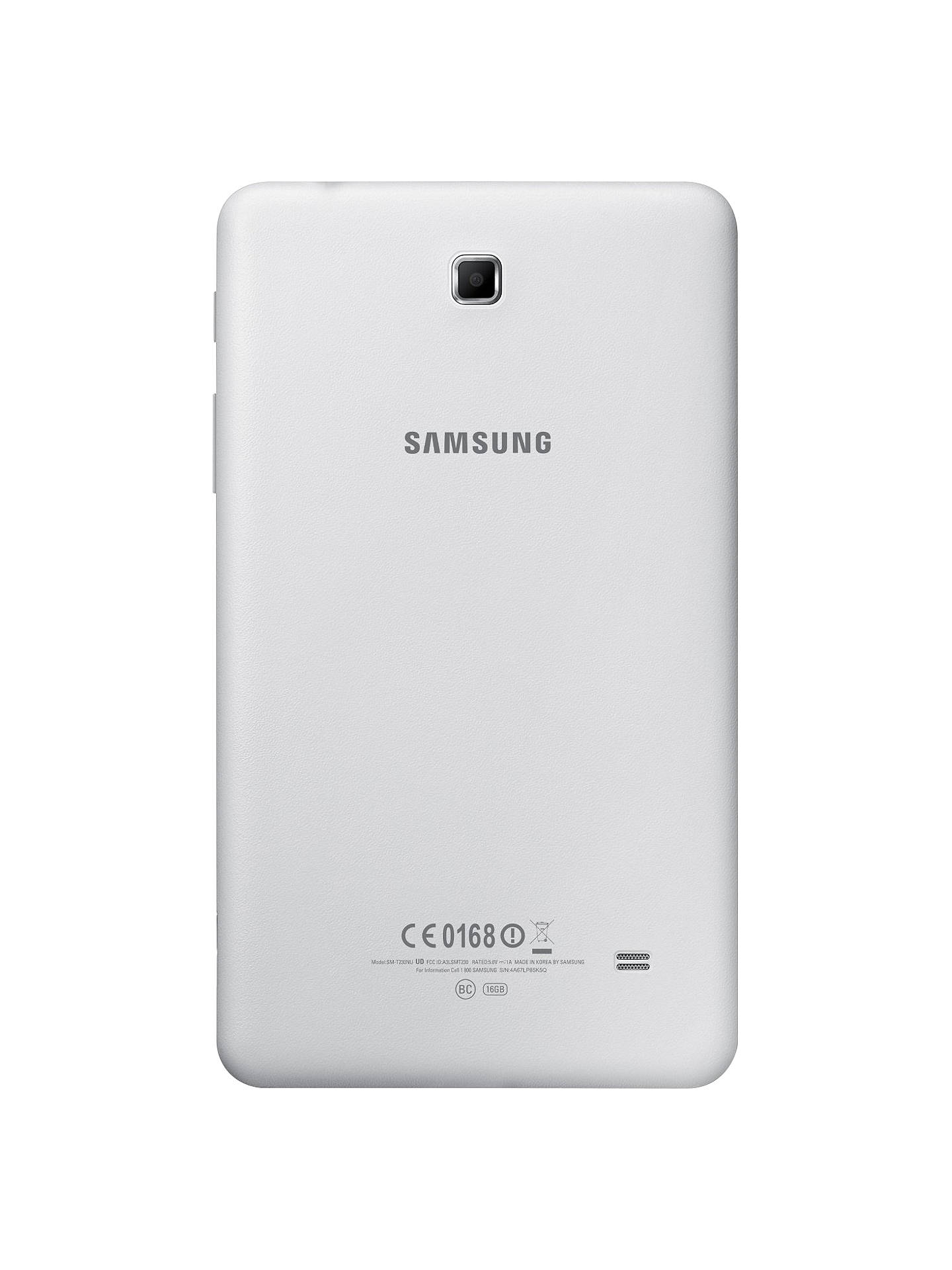 "Buy Samsung Galaxy Tab 4 7.0 Tablet, Quad-core Marvell PXA, Android, 7"", Wi-Fi, 8GB, White Online at johnlewis.com"