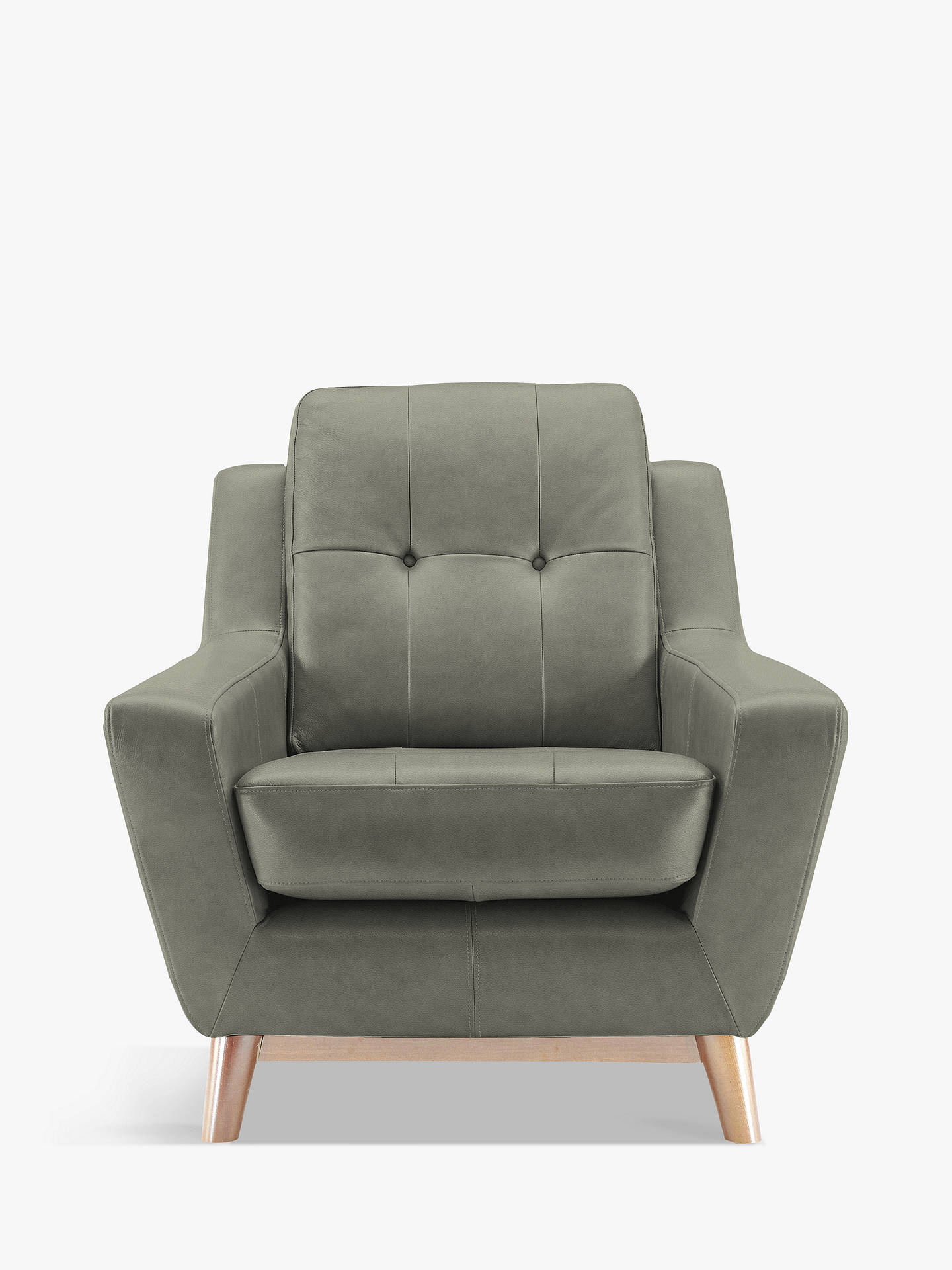 BuyG Plan Vintage The Fifty Three Leather Armchair, Capri Grey Online at johnlewis.com