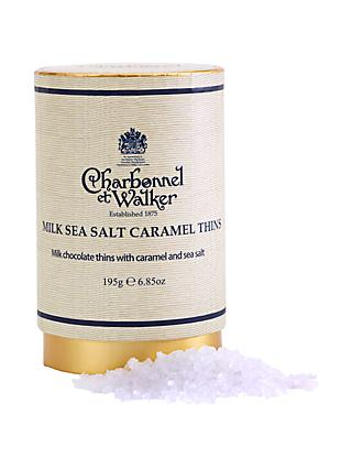 Charbonnel et Walker Sea Salt Caramel Milk Chocolate Thins, 195g